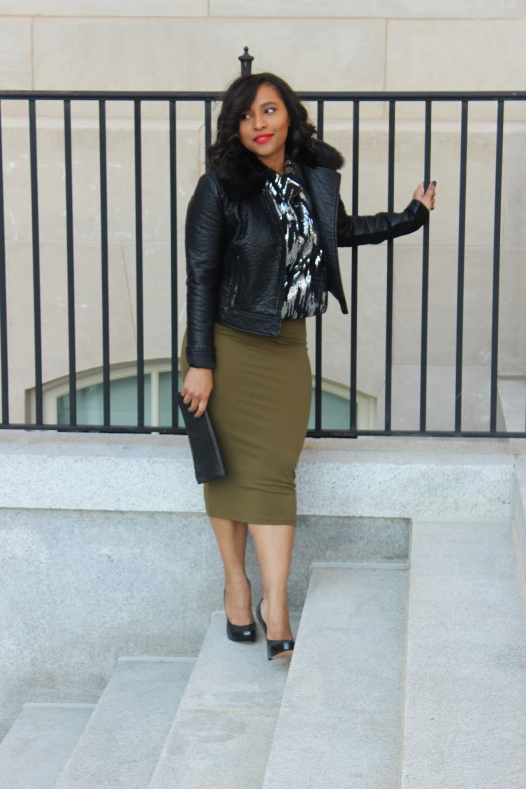 new years eve look, sequins, midi skirt, holiday style,