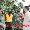Kasdam XIV/Hsn Berkunjung Ke Kodim 1410/Bantaeng Serta Meninjau TMMD Ke-108 di Kodim Jeneponto l
