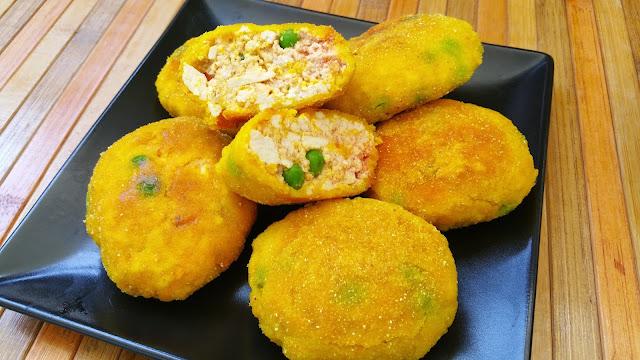 Nuggets de tofu y verduras