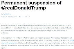 Duga Picu Kerusuhan pada 17 Januari 2021, Twitter Suspend Permanen Donald Trump