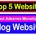 Top 5 Website Without Adsense Monetization In Blogger