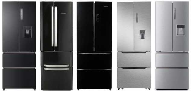 shallow depth or narrow width american style fridge freezers uk