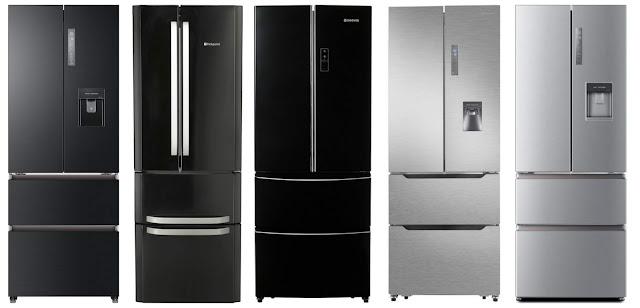 shallow depth or narrow width american style fridge freezers uk