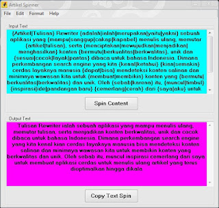 Software dan Aplikasi Artikel Spinner Bahasa Indonesia Gratis Terbaik Terbaru