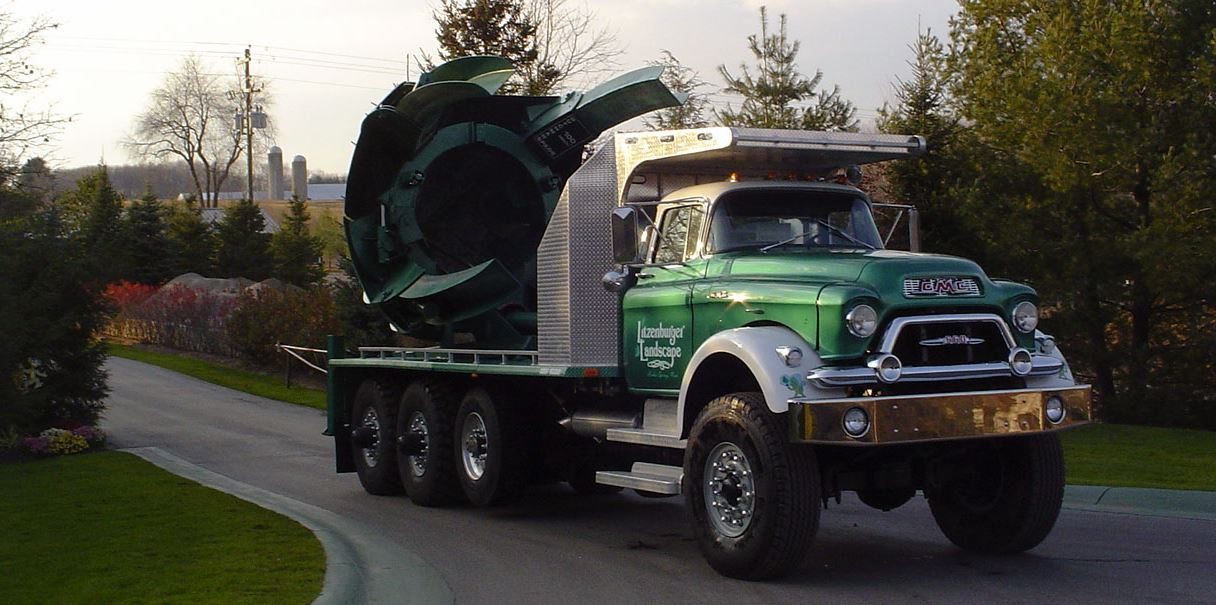 Just A Car Guy Michigan Landscape Company Owner Gow Litzenburger Has 36 Vintage Trucks In His Fleet Including Models From The 1930s Which Have Helped His Landscaping Business Stand Out In A