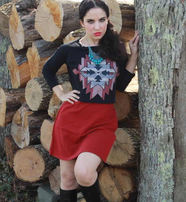Southwestern Long Sleeve Top