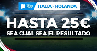 Paston promo Italia vs Holanda 14-10-2020