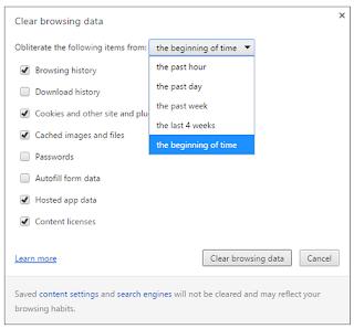 Cara Menghapus Cache di Google Chrome kurang dari 1 menit