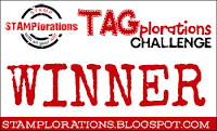 Gagnante STAMPlorations April - TAGplorations Challenge
