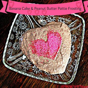 Valentine Banana Cake