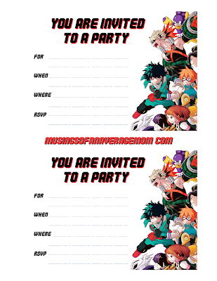 my hero academia free birthday printables