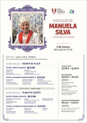 Dia 7 de março, no ISEG: evocação de Manuela Silva