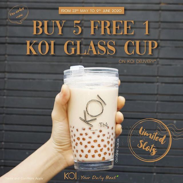 KOI Thé Offer Special Delivery: Beli 5 Percuma 1!