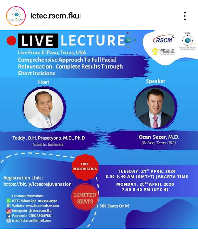 "Live Lecture : ""Comprehensive Approach To Full Facial Rejuvenation Complete Results Through Short Incisions"" Live From El Paso, Texas, USA"