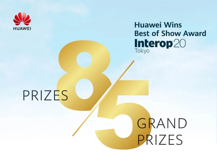 Huawei Wins Big at Interop Tokyo 2020; Bags Eight Awards in Total