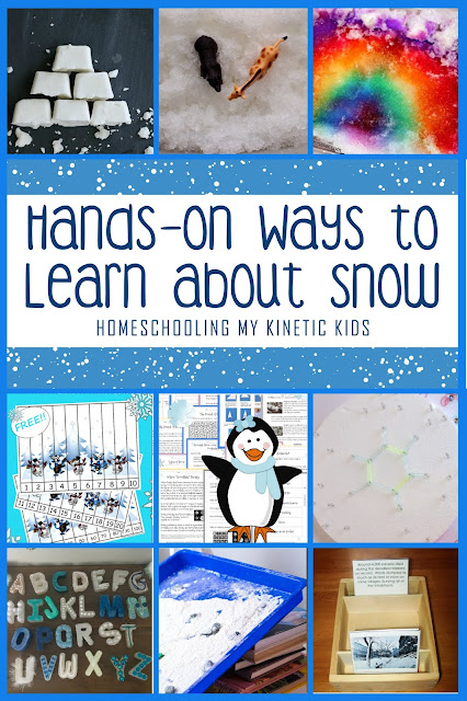 Hands-On STEM Ideas to Learn About Snow // Homeschooling My Kinetic Kids // Science // Technology // Engineering // Math // hands-on learning // classroom // free printables