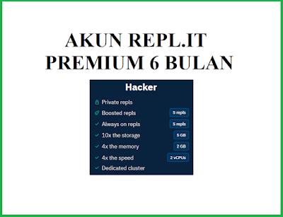 Promo Akun Repl.it Premium Murah