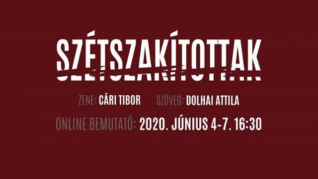 Szétszakítottak címmel készített online musicalt a Budapesti Operettszínház