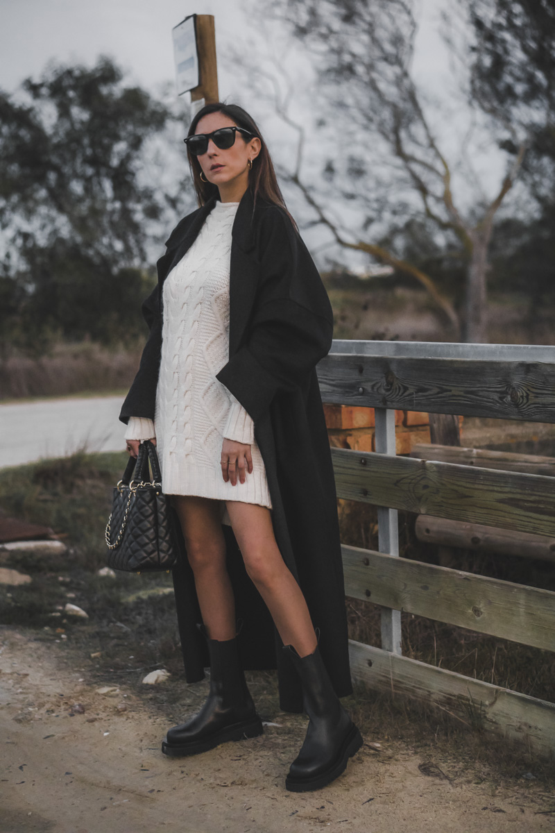 black coat - look de frio