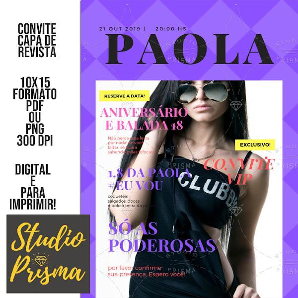 Convite Digital Capa de Revista