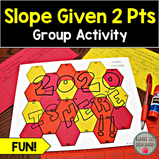 Slope Given Two Points Group Activity