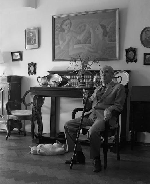 Borges y Beppo © Julie Méndez Ezcurra