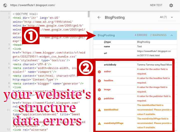 Your-websites-structure-data-errors