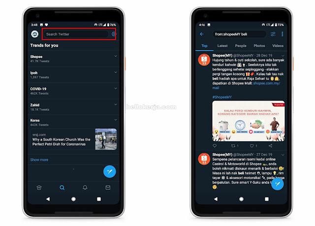 Cari Tweet Lama Dengan Mudah