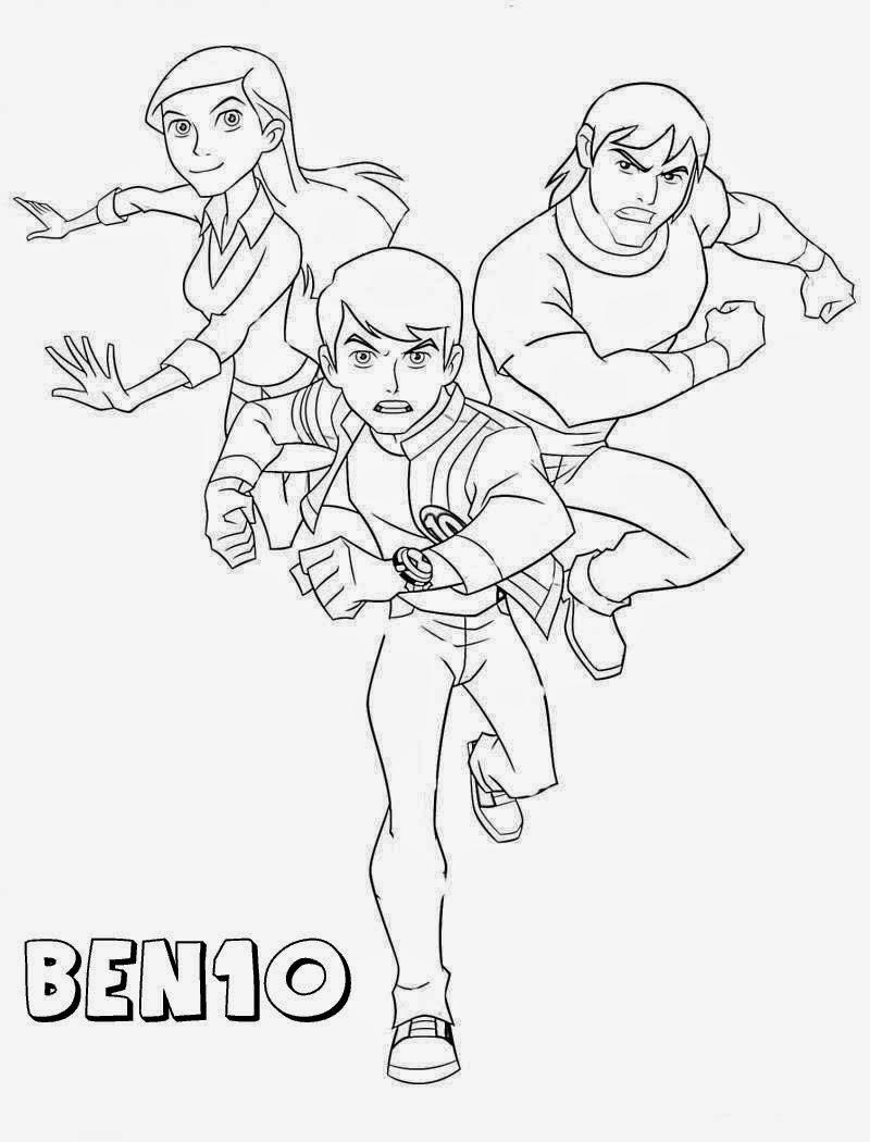 Desenhos para Colorir e Imprimir: Desenhos do Ben 10 para