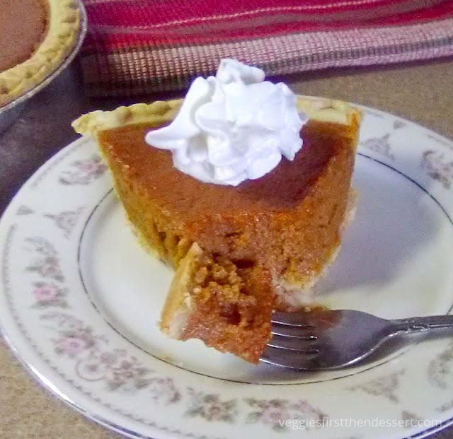 Veggies First, Then Dessert - Pumpkin Pie