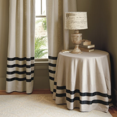 The Deux Ribbon Linen Drapes Were Featured In Ballard Designs Catalog Last Spring