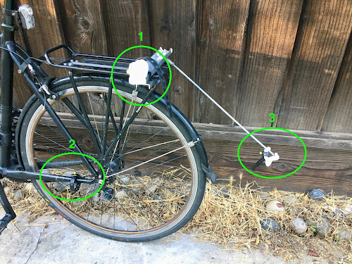 Where to attach the second bike to be towed
