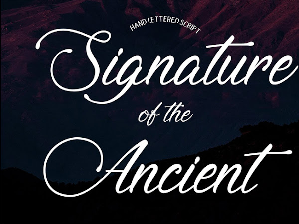 Signature of the Ancient Script Font Free Download