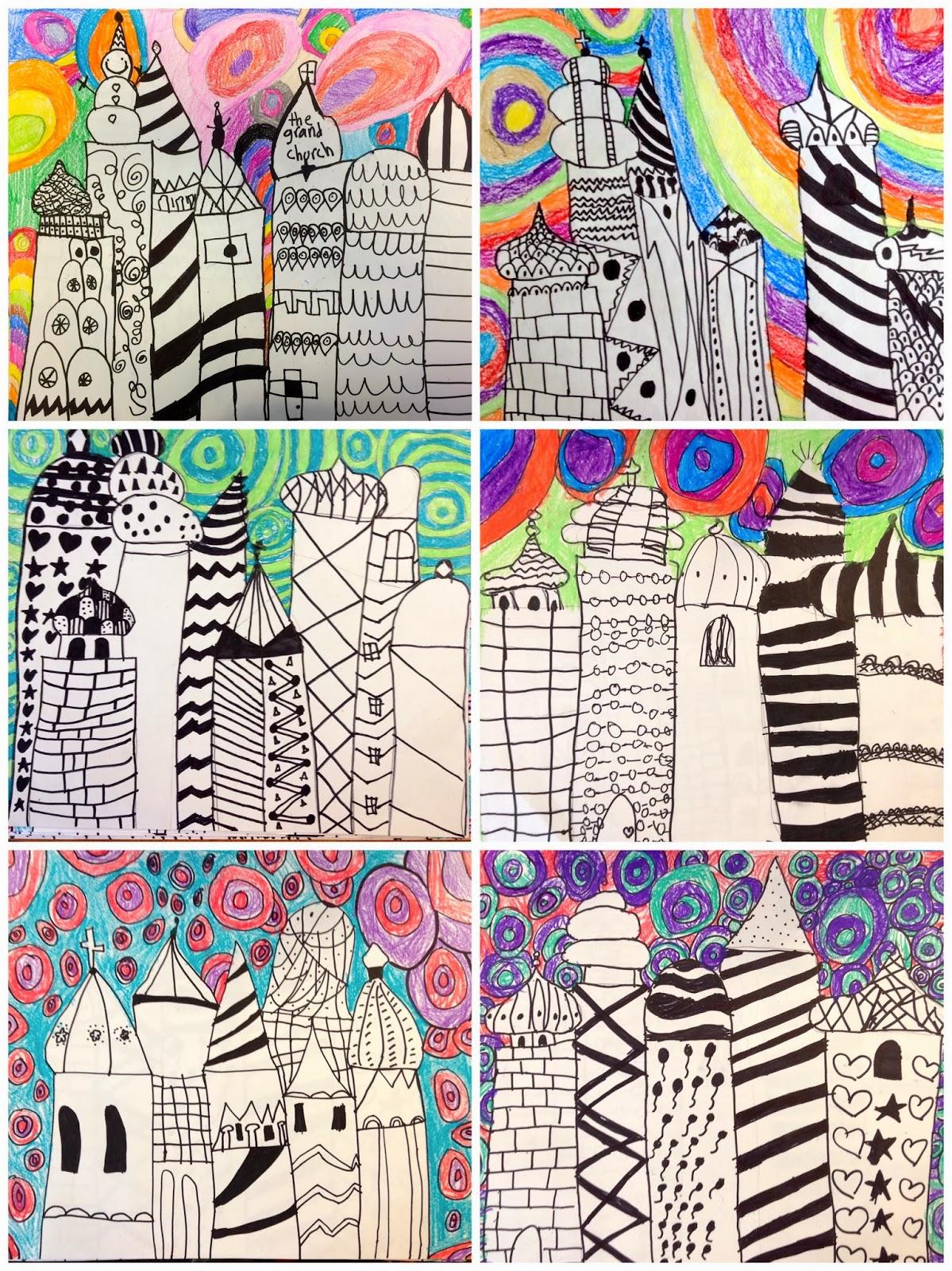 Art Eat Tie Dye Repeat 2nd Grade Russian Architecture