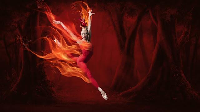 Photo credit: Nathalia Arja in Firebird. Choreography by George Balanchine and Jerome Robbins © The George Balanchine Trust. Photo © Karolina Kuras.