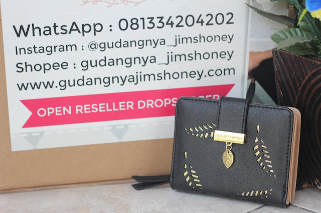 Real Pict Dompet Jims Honey Mini Mora Wallet