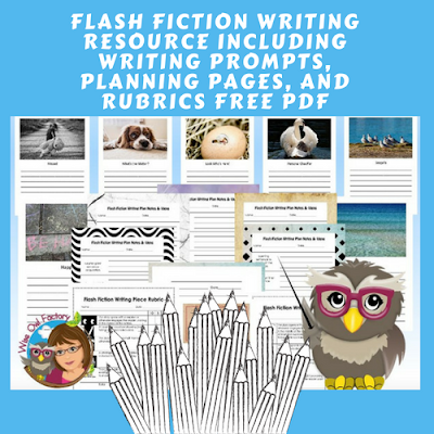 Flash Fiction Teaching Information and Writing Prompts Free