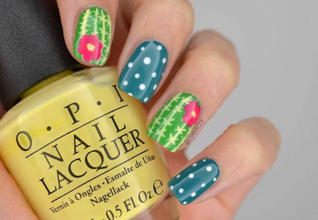 Cactus Nail Art