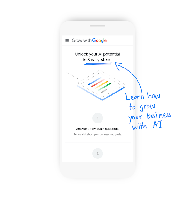 Illustration eines Smartphones mit dem AI for Business-Tool