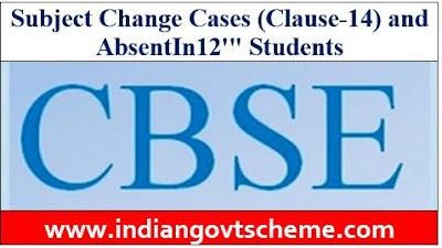 Subject Change Cases
