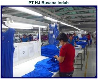 Lowongan Kerja Operator PT HJ Busana Indah Sukabumi Terbaru
