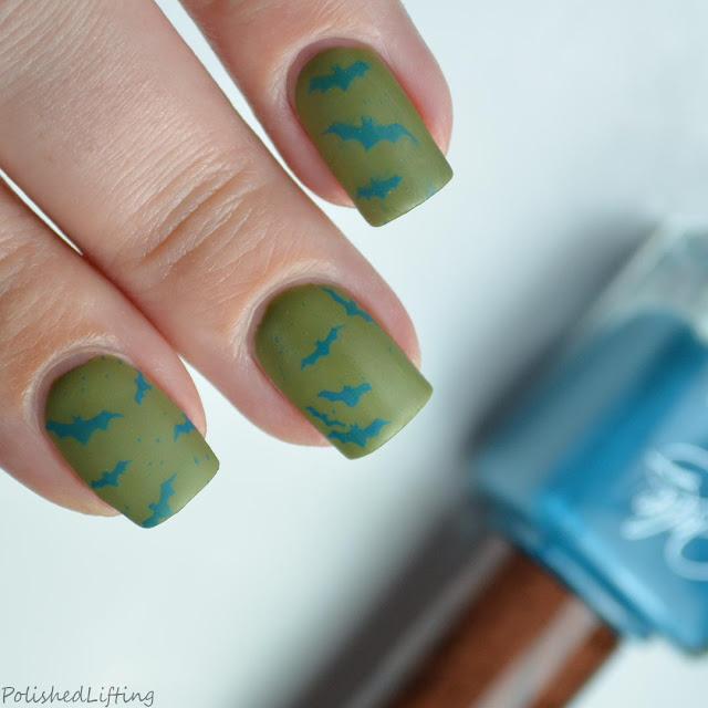 matte bat nail art