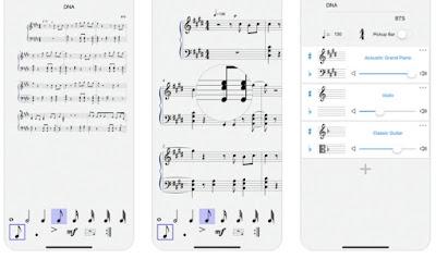 تطبيق كتابة وقراءة النوتات الموسيقية