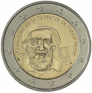 2€ Abbe Pierre Ranska 2012