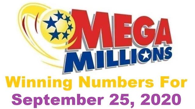 Mega Millions Winning Numbers for Friday, September 25, 2020