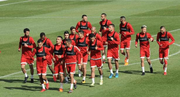 المنتخب المغربي يستعد لمواجهة أوزبكستان غداً