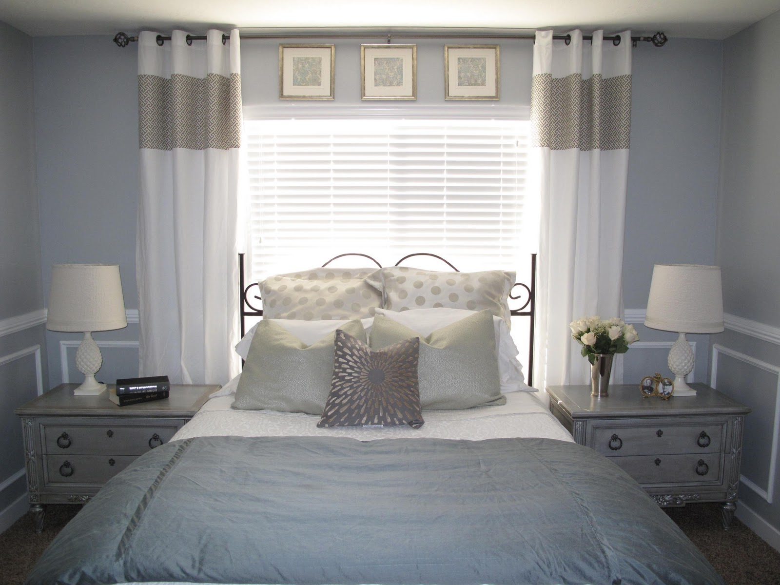 Remodelaholic | Beautifying the Master Bedroom on Master Bedroom Curtains  id=67422