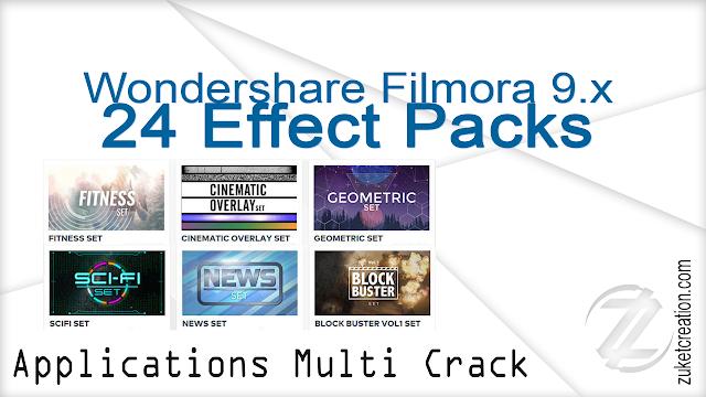 Wondershare Filmora 9.x 24 Effect Packs