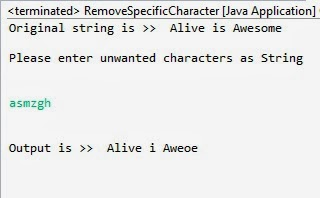 remove specific characters from the string in java