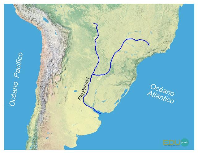 hidrografia, parana, america del sur, sudamerica ,rio, cuenca